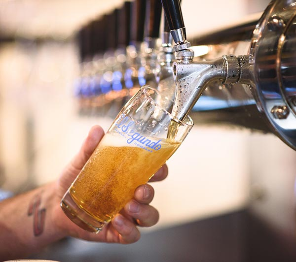 El Segundo beer glass and beer